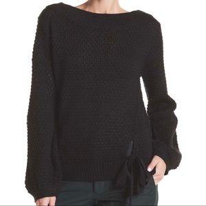 Susina Drop Shoulder Side Tie Sweater 1X